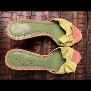 Green coach sandals